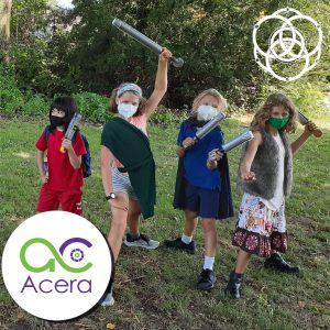 LARP Games students prepare for battle!